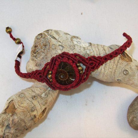 pulsera ammonite rojo2