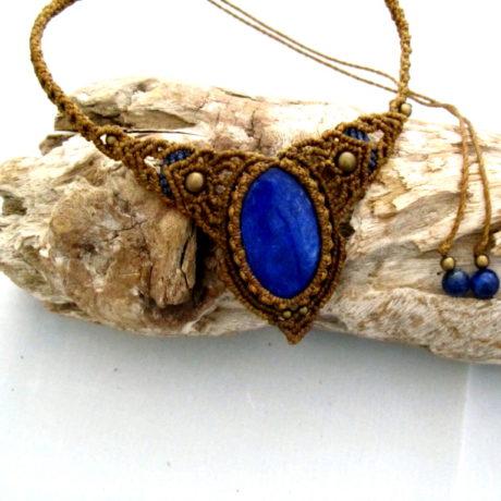 collar lapislázuli caqui