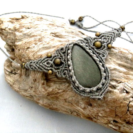 collar obsidiana dorada grisbiss