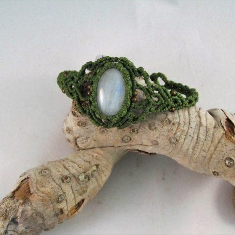 pulsera piedra luna verde2
