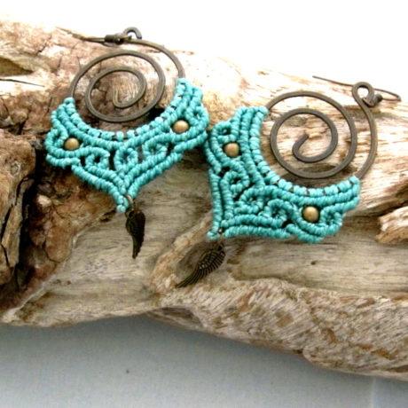 pendientes esp azul turques claro