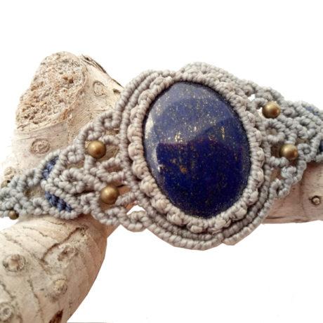 Pulsera lapislazuli azul